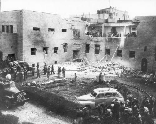 """Jewish Agency bombing - """"Algunas de las masacres de civiles palestinos luego de la fundación del ente sionista de Israel en 1948"""""""