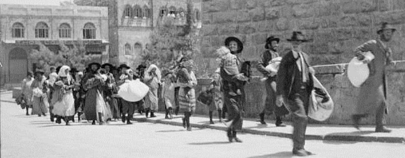 Jews fleeing the Old City1929